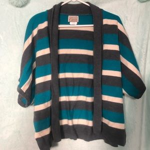 Company Collection knit striped short sleeve shrug